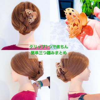 ショート ロング フェミニン ヘアクリップ ヘアスタイルや髪型の写真・画像