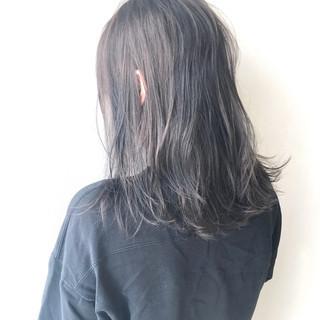 透明感 ハイトーンカラー 外ハネ デート ヘアスタイルや髪型の写真・画像