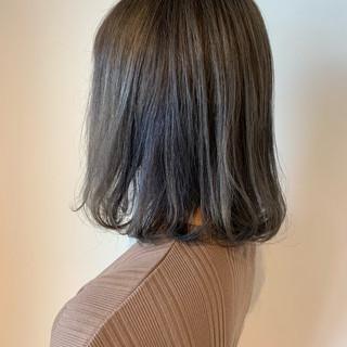 透明感カラー ブリーチ ダブルカラー グレージュ ヘアスタイルや髪型の写真・画像