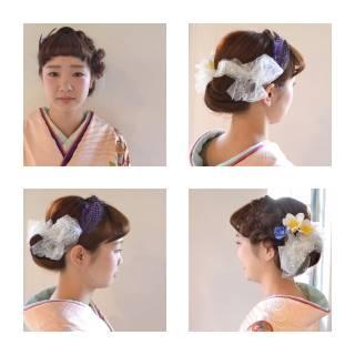 謝恩会 コンサバ 袴 ヘアアレンジ ヘアスタイルや髪型の写真・画像