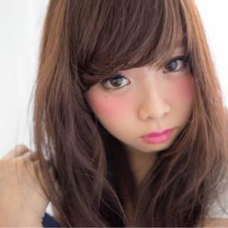 暗髪 ロング ナチュラル かわいい ヘアスタイルや髪型の写真・画像 ヘアスタイルや髪型の写真・画像