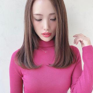 内巻き ストレート 可愛い 美髪 ヘアスタイルや髪型の写真・画像