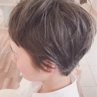 ガーリー 似合わせ ナチュラル ショート ヘアスタイルや髪型の写真・画像