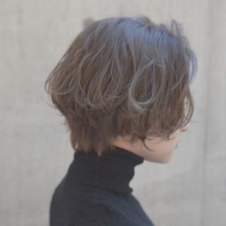 似合わせ 外ハネ 小顔 ショート ヘアスタイルや髪型の写真・画像