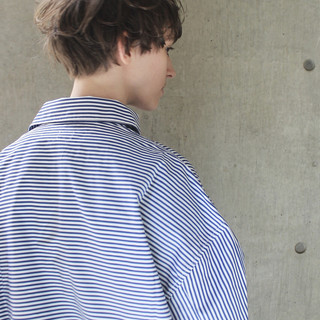 エフォートレス ショート フェミニン ヘアアレンジ ヘアスタイルや髪型の写真・画像