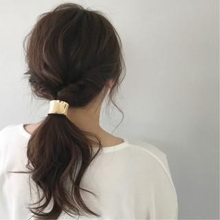 ゆるふわ デート 簡単ヘアアレンジ ヘアアレンジ ヘアスタイルや髪型の写真・画像 ヘアスタイルや髪型の写真・画像