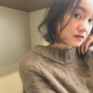 女子力 ボブ ガーリー オフィス ヘアスタイルや髪型の写真・画像