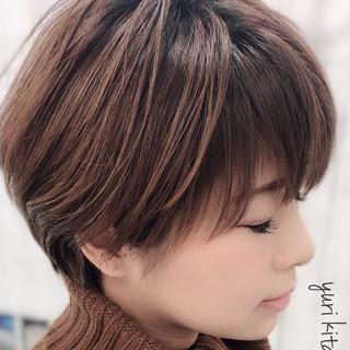 小顔ショート ショート ショートバング ハンサムショート ヘアスタイルや髪型の写真・画像 ヘアスタイルや髪型の写真・画像