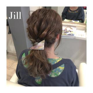 ポニーテール ショート セミロング 簡単ヘアアレンジ ヘアスタイルや髪型の写真・画像 ヘアスタイルや髪型の写真・画像