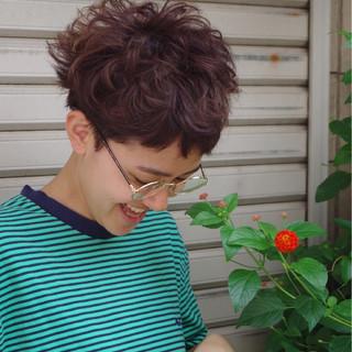 ショート 外国人風 ピュア アッシュ ヘアスタイルや髪型の写真・画像