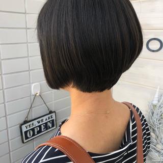 女子力 ショートボブ ショート ナチュラル ヘアスタイルや髪型の写真・画像