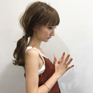 結婚式 女子会 簡単ヘアアレンジ ミディアム ヘアスタイルや髪型の写真・画像