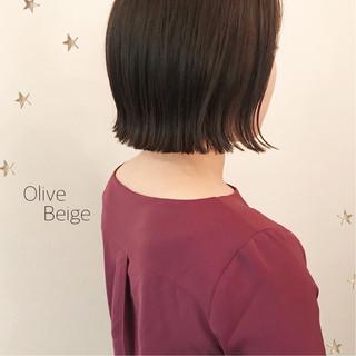 切りっぱなし 大人女子 ボブ こなれ感 ヘアスタイルや髪型の写真・画像