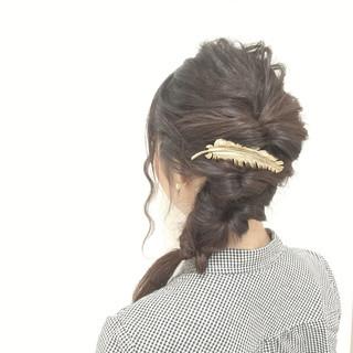 フェミニン ヘアアレンジ ロング 大人かわいい ヘアスタイルや髪型の写真・画像 ヘアスタイルや髪型の写真・画像