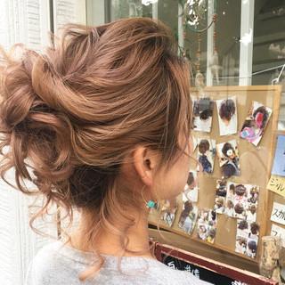 ヘアアレンジ デート ミディアム ナチュラル ヘアスタイルや髪型の写真・画像