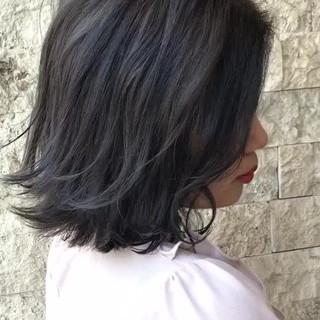 切りっぱなし ナチュラル 暗髪 ボブ ヘアスタイルや髪型の写真・画像 ヘアスタイルや髪型の写真・画像