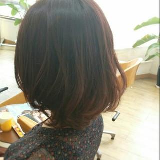 ピンク ストレート コンサバ 暗髪 ヘアスタイルや髪型の写真・画像