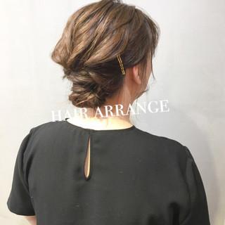 簡単ヘアアレンジ ミディアム 結婚式 ヘアアレンジ ヘアスタイルや髪型の写真・画像