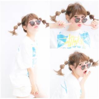夏 簡単ヘアアレンジ ヘアアレンジ ヘアアクセ ヘアスタイルや髪型の写真・画像
