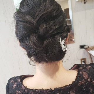 ボブ 結婚式 デート ヘアアレンジ ヘアスタイルや髪型の写真・画像 ヘアスタイルや髪型の写真・画像