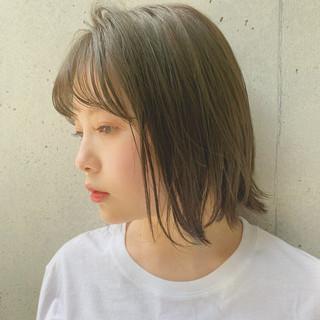 鎖骨ミディアム 透明感カラー デジタルパーマ ミディアム ヘアスタイルや髪型の写真・画像