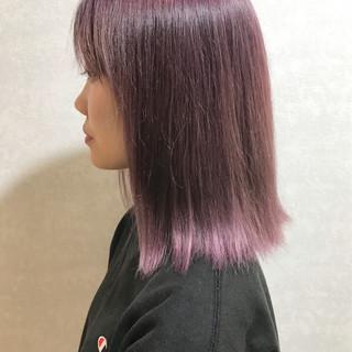 ピンクラベンダー ガーリー ヘアアレンジ 韓国ヘア ヘアスタイルや髪型の写真・画像
