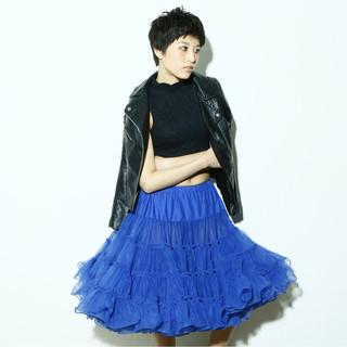 モード ショート 大人かわいい 黒髪 ヘアスタイルや髪型の写真・画像