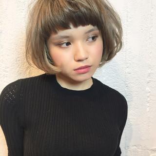 マッシュ グラデーションカラー 色気 ショート ヘアスタイルや髪型の写真・画像
