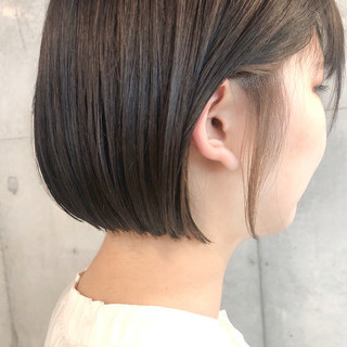 ナチュラル インナーカラー ボブ ヘアカラー ヘアスタイルや髪型の写真・画像 ヘアスタイルや髪型の写真・画像