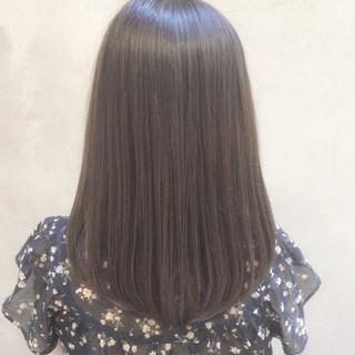 デート イルミナカラー オフィス 大人かわいい ヘアスタイルや髪型の写真・画像