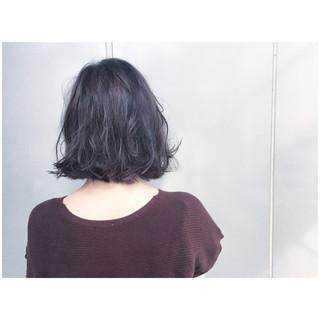 グレーアッシュ ボブ グレージュ ストリート ヘアスタイルや髪型の写真・画像 ヘアスタイルや髪型の写真・画像