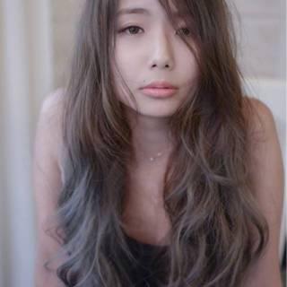 グレージュ フェミニン ゆるふわ ナチュラル ヘアスタイルや髪型の写真・画像