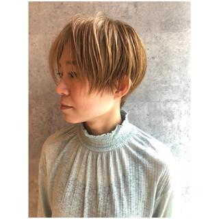 ナチュラル マッシュ 似合わせ ベリーショート ヘアスタイルや髪型の写真・画像