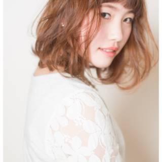 ガーリー 愛され ゆるふわ ナチュラル ヘアスタイルや髪型の写真・画像