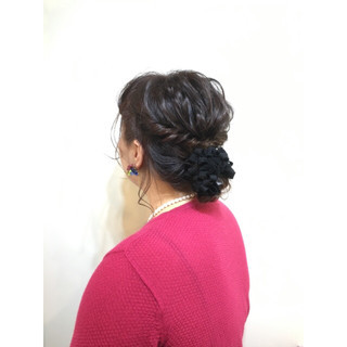 編み込み ショート 簡単ヘアアレンジ 簡単 ヘアスタイルや髪型の写真・画像