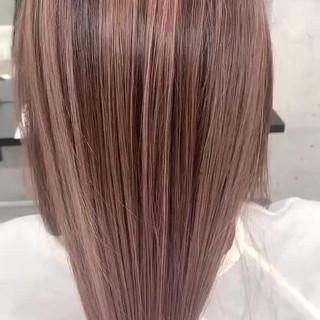ピンクパープル ハイトーン ロング 大人ロング ヘアスタイルや髪型の写真・画像