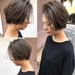 アンニュイ ショート ナチュラル ヘルシー ヘアスタイルや髪型の写真・画像