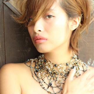 大人女子 ヘアアレンジ モード 外国人風 ヘアスタイルや髪型の写真・画像