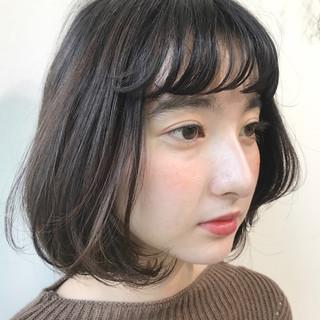 透明感 ナチュラル ボブ 抜け感 ヘアスタイルや髪型の写真・画像
