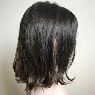まとまるボブ ナチュラル 外ハネボブ 大人ミディアム ヘアスタイルや髪型の写真・画像