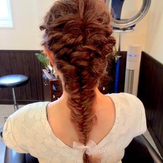ガーリー ヘアアレンジ 外国人風 ロング ヘアスタイルや髪型の写真・画像