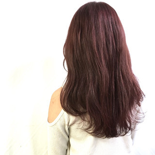 セミロング パープル コンサバ ピンク ヘアスタイルや髪型の写真・画像