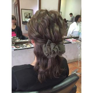 ショート 簡単 編み込み ヘアアレンジ ヘアスタイルや髪型の写真・画像