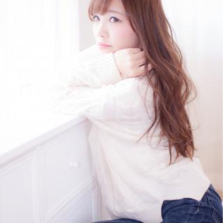 愛され フェミニン ロング 大人かわいい ヘアスタイルや髪型の写真・画像