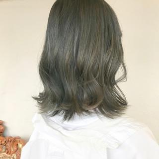 ヘアアレンジ ボブ ミルクグレージュ モード ヘアスタイルや髪型の写真・画像