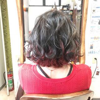 ハイトーン エレガント ゆるふわ インナーカラー ヘアスタイルや髪型の写真・画像