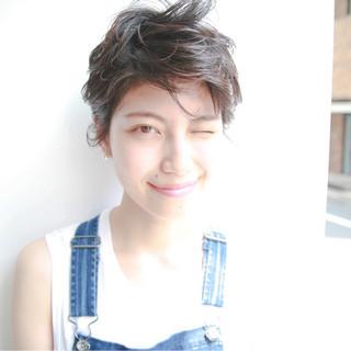 前髪あり 大人かわいい 黒髪 ストリート ヘアスタイルや髪型の写真・画像