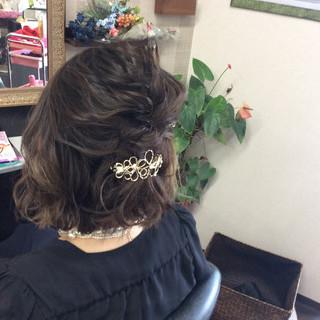 ボブ 簡単ヘアアレンジ 結婚式 ヘアアレンジ ヘアスタイルや髪型の写真・画像 ヘアスタイルや髪型の写真・画像