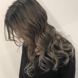 セミロング 外国人風カラー 成人式 バレイヤージュ ヘアスタイルや髪型の写真・画像