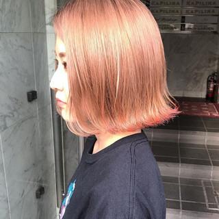 韓国ヘア カジュアル 透明感カラー ボブ ヘアスタイルや髪型の写真・画像
